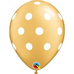 """11"""" Big Polka Dots Gold (50 ct.)"""