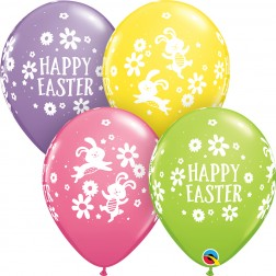 "11"" Easter Bunnies & Daisies Spring Asst.  (50 ct)"