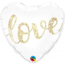 "18"" Love Glitter Gold"
