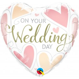 """18"""" On Your Wedding Day Hearts"""