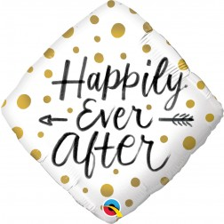 """18"""" Diamond Happily Ever After Gold Dots"""