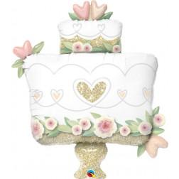 "38"" Glitter Gold Wedding Cake"