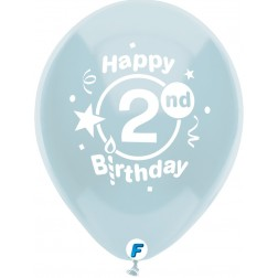 """Funsational 12"""" 2nd Birthday Party  Asst. (8 ct.)"""