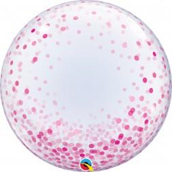 """Deco Bubble 24"""" Pink Confetti Dots"""