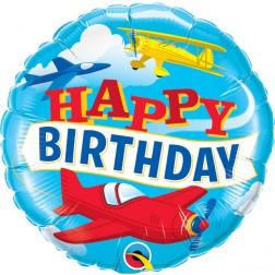 "18"" Birthday Airplanes (pkgd)"
