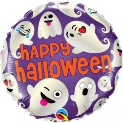 "18"" Happy Halloween Emoticon Ghosts (pkgd)"