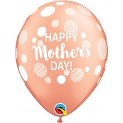 """11"""" Happy Mother's Day Dots Rose Gold (50 ct)"""