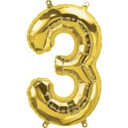"""34"""" Northstar  Number 3 Gold (pkgd)"""