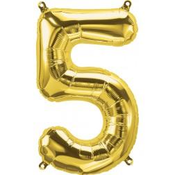 """34"""" Northstar  Number 5 Gold (pkgd)"""