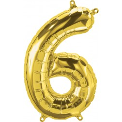 """34"""" Northstar  Number 6 Gold (pkgd)"""