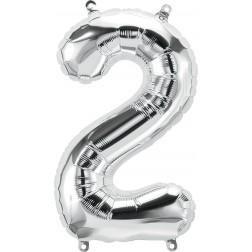 """34"""" Northstar  Number 2 Silver (pkgd)"""