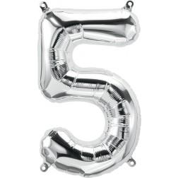 """34"""" Northstar  Number 5 Silver (pkgd)"""