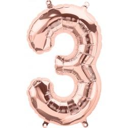 """34"""" Northstar  Number 3 Rose Gold (pkgd)"""