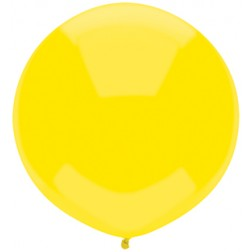 "17"" Outdoor Display Balloons Lemon Yellow 72ct"