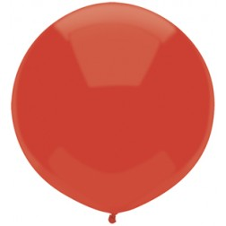 """17"""" Outdoor Display Balloons Real Red 72ct"""
