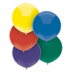 """17"""" Outdoor Display Balloons Royal Rich Assortment 72ct"""