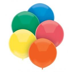 "17"" Outdoor Display Balloons Primary Assortment 72ct"