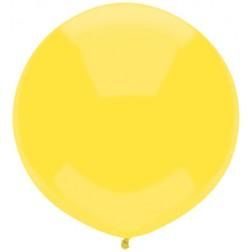 "17"" Outdoor Display Balloons Sun Yellow 72ct"