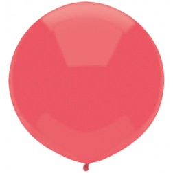 """17"""" Outdoor Display Balloons Watermelon Red 72ct"""
