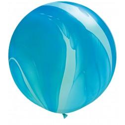 """Super Agate 30"""" Blue 02Ct"""