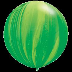 """Super Agate 30"""" Green 02Ct"""