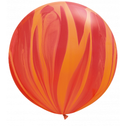 "Super Agate 30"" Red Orange 02Ct"