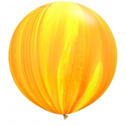 "Super Agate 30"" Yellow Orange 02Ct"