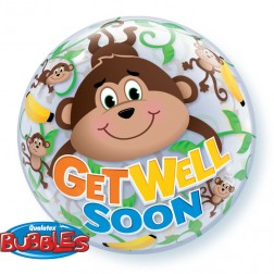 """Bubble 22"""" Get Well Monkeys"""