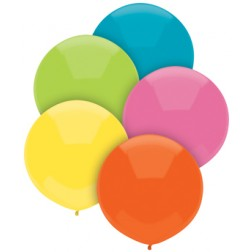 "17"" Outdoor Display Balloons Tropical Assortment 72ct"