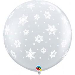 3' Snowflakes-A-rnd Diamond Clear (2ct)