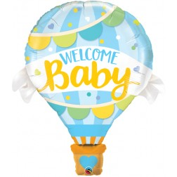 """42"""" Welcome Baby Blue Balloon (pkgd)"""