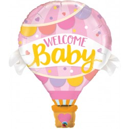 """42"""" Welcome Baby Pink Balloon (pkgd)"""