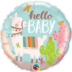 """18"""" Hello Baby Llama (pkgd)"""
