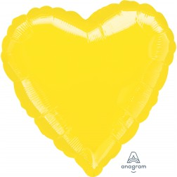 Standard Heart Metallic Yellow