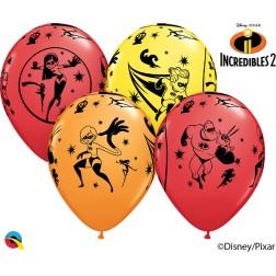 "11"" Disney Pixar Incredibles 2  Asst. Red, Yellow, Orange (25 ct.)"
