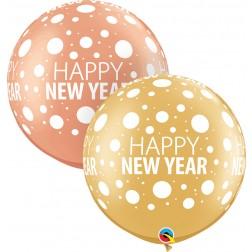 "30"" Happy New Year Dots-A-Rnd (02 ct.)"