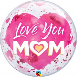 """Bubble 22"""" Love You M(Heart)M Pink"""
