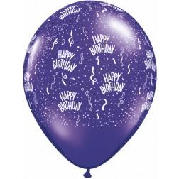 """11"""" Birthday-A-Round Purple Violet (100ct)"""
