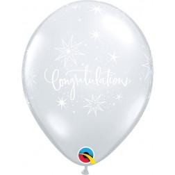 "11"" Congratulations Elegant Diamond Clear (50 ct.)"