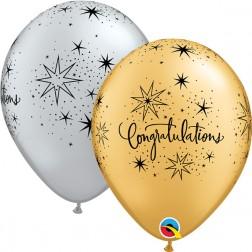 """11"""" Congratulations Elegant Silver & Gold (50 ct.)"""
