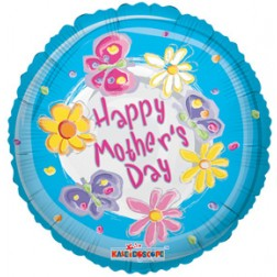 """Airfilled: 04"""" SV MOTHER'S DAY BLUE SWIRLS"""