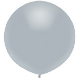 "17"" Outdoor Display Balloons Shinning Platinum 72ct"