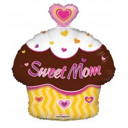 """18"""" SP: SWEET MOM CUPCAKE SHAPE"""