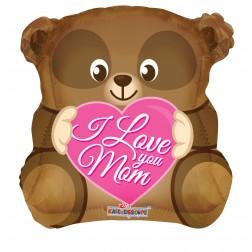 """18"""" SP: LOVE YOU MOM BEAR SHAPE"""