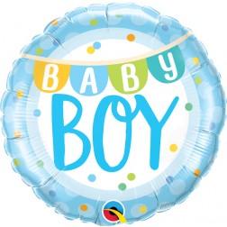 """18"""" Baby Boy Banner & Dots (pkgd)"""
