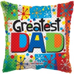 """09"""" Greatest Dad Multicolor"""