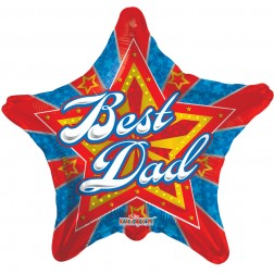 "09"" Best Dad Starburst"