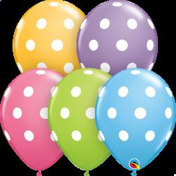 """11"""" Big Polka Dots Asst 50Ct"""