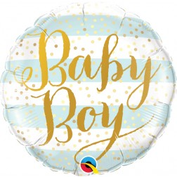 """18"""" Baby Boy Blue Stripes (pkgd)"""