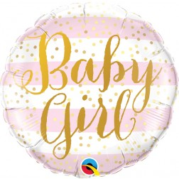 "18"" Baby Girl Pink Stripes (pkgd)"